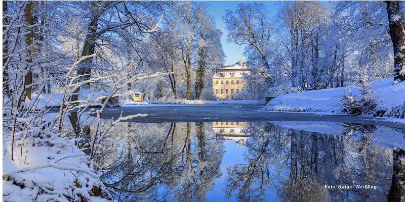 Cottbus: Schloß Branitz im Winter